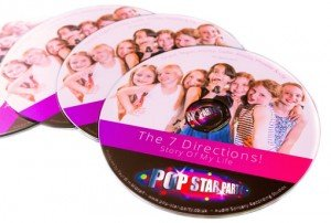 Pop Star Party Photo Printed CDs